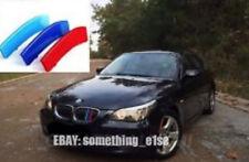 BMW 5 Saloon/raíces e60/e61,04-10, Parrilla M Power tricolor Cubierta/Gorra/Clip/Correa