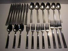 25 PC Wallace MANHATTAN 18/8 Stainless Knives Forks Spoons
