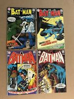Batman Early Bronze Age Comic Lot Run 216 219 220 221 DC Low Grade Books 1970