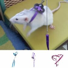 Nylon Pet Harness Leash For Hamster Adjustable Ferret Rat Mouse Bunny Harnesses