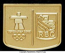 OLYMPIC PIN 2010 VANCOUVER CANADA RBC BANK SPONSOR GOLD