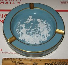 vtg Hand Made Florentine Ashtray Italy 3629 Pottery Greek Roman Cupid Love Art