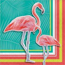 Island Oasis 16 Ct Lunch Napkins Summer Luau Pool Party Flamingos
