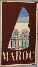 VINTAGE TRAVEL POSTER MOROCCO  AFFICHE ANCIENNE  MIOLLAN MAROC circa 1950
