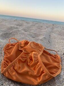 Victoria's Secret Vintage String Bikini Satin Second Skin Panty Medium NWOT