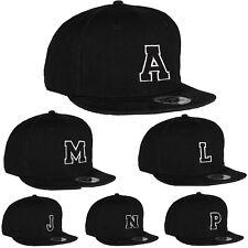 Unisex Kids Adult Size Snapback Flat Peak Hat Casual Baseball Cap A-Z Alphabet