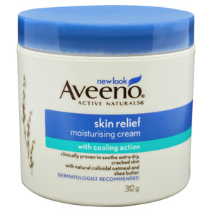 Aveeno Skin Relief Moisturising Cream 312g Cooling Action Colloidal Oatmeal