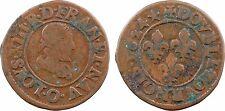 Louis XIII, double tournois, 3e type, 1624 Riom - 7