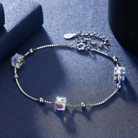 Echte 925 Silber Armkette Sterlingsilber Armband Crystal + SWAROVSKI ® Elements