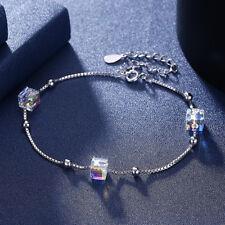 Luxus Armbänder Damen Armband Kette 925 Silber Schmuck + SWAROVSKI ® Elements