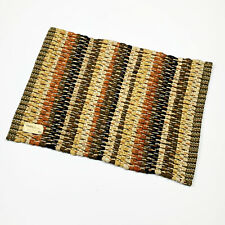 Gather Together Autumn Fall Stripe Single Cotton Chindi Placemat