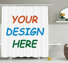 New Personalized Customize Image Shower Curtain Fabric & 12hooks 71*71inches