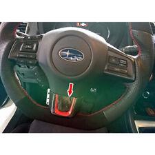 Dry Carbon + RED For Subaru WRX Impreza CST Interior Steering Wheel Trim