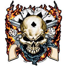 Dead Man Skull & Guns Flammen Poker Totenkopf Decal Aufkleber Sticker