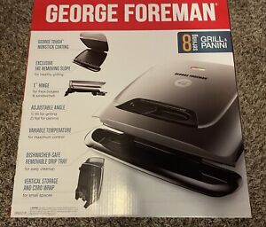 George Foreman 8 Serving Elecric Indoor Grill And Panini Press