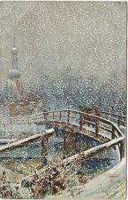 TUCK: WINTER LANDSCAPES -Snowscene-KRAHMER-OILETTE 9019