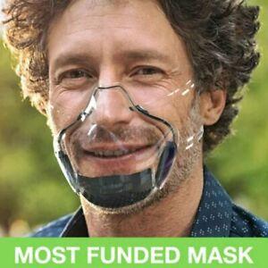 avec valve Masque Visière de Protection Transparent couvre nez visage @