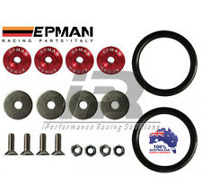 RED Quick Release Fasteners Bumper Trunk Suits JDM EURO Universal