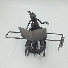 Piano Player Scrap Metal Nuts Bolts Sculpture Figure Man