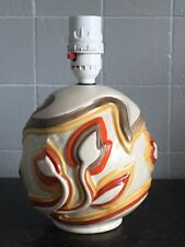 More details for stunning rare vintage clarice cliff pottery table lamp