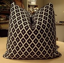 "Manuel Canovas Anthracite ""Ales"" French Geometric Diamond Custom Pillows"