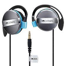 Rockpapa on Ear Stereo Earphones Headphones 3.5mm FR Laptop DVD Mp3/4 Black Blue