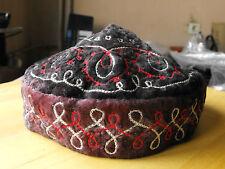 Antique Vintage Ethnic Turkish Islamic Prayer Skull Cap Topi Kufi Hat Muslim#583
