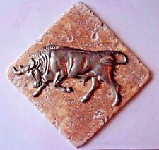 "Bull plastic travertine tile mold 6"" x 6"" x 1/3"" plaster cement mould"
