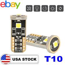 HY T10 LED License Plate Light Bulbs 6000K Bright White 168 2825 194 CANBUS 2PCS