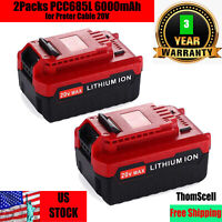 2Packs 6.0Ah Extended Capacity  for Porter Cable 20V Lithium-ion Battery PCC685L