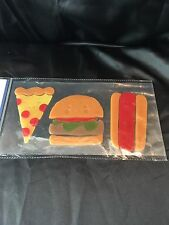 Fast Food! Window Gel Sticker Cling Decor classroom  hamburger hotdog pizza