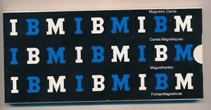 IBM MAGNETIC CARDS OLD STOCK opened box 16 unused cards left ORIGINAL TYPEWRITER