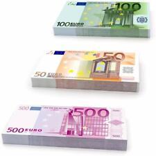 Pack de 75 Faux Billets Fictifs 50€ 100€ 500€ Réaliste Factice Cinéma Clip Jeu