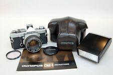Olympus OM-1N 35mm SLR film camera with F.Zuiko 50mm f1.8, T32 Flash & Manual