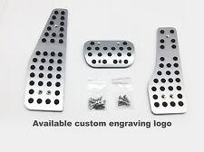 (3) Automatic  Auto Aluminum Pedals Pads Covers For Porsche 911 996 987 986 LHD