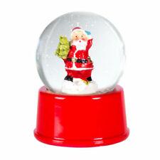 Red Glass Santa Christmas Xmas Snow Globe Festive Ornament Gift Decoration Claus