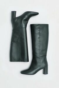 $690 - LOQ Donna Knee High Leather Pino Green Boot Size 10.5/41