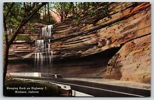 Hanging Rock on Highway 7 in Madison, Indiana Jefferson County Linen Postcard