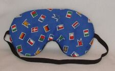 Handmade Blue flags Sleep Eye Mask Blindfold Hen Stag Blackout Migraine Relief