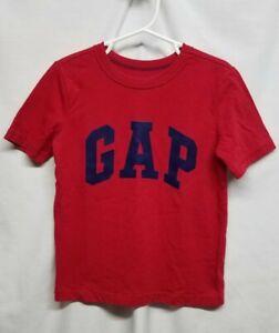 Gap Kids Boy's Red Short Sleeve T Shirt Size XS, Logo GAP. EUC