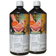 Aloe Vera Trinkgel mit Honig, Anzahl Einheiten 2x 1000ml Flaschen