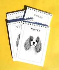 Cavalier King Charles Spaniel Pack of 4, A6 Dog Notepads Gift Set