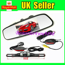 "4.3"" LCD TFT Mirror Monitor + 7 IR Reversing Wireless Camera Car Rear View Kit"