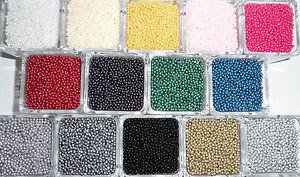 1000 Wachsperlen 3mm Farbwahl Perlen Perlensterne Drahtsterne Fädelperlen Kette