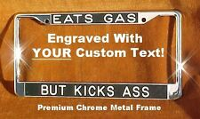 Engraved CUSTOM Chrome License Plate Frame PERSONALIZED