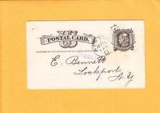 1883 1c Liberty Postal Card NY Lea & Perris' Worcestershire Sauce J Duncan AD k