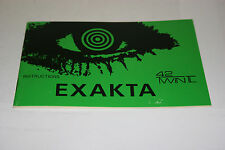 NEW GENUINE ORIGINAL EXAKTA TWIN TL CAMERA INSTRUCTION MANUAL GUIDE BOOK