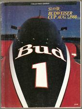 1988 Budweiser Cup Unlimited Hydroplane Race Program