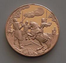 Cuento De Cuentos De Canterbury Caballero Caballeros poeta Chaucer medallón de bronce Espada soldado
