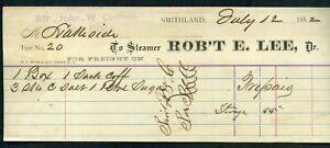 "STEAMBOAT FREIGHT BILL ""Robt. E. Lee"""